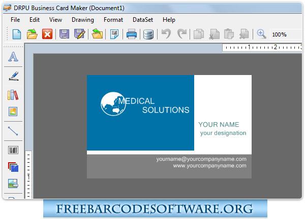 Business Card Maker Software FreeBarcodeSoftware