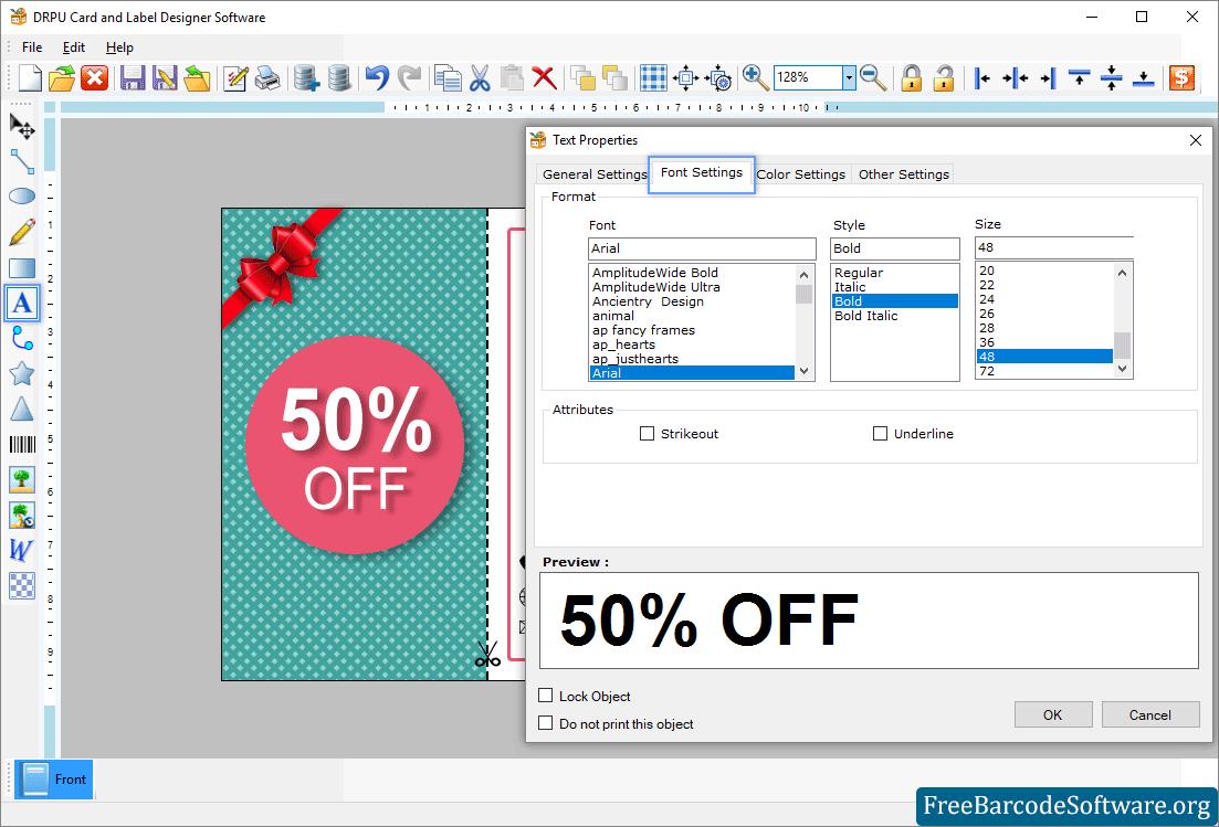 Card And Label Designing Software Screenshots Freebarcodesoftware