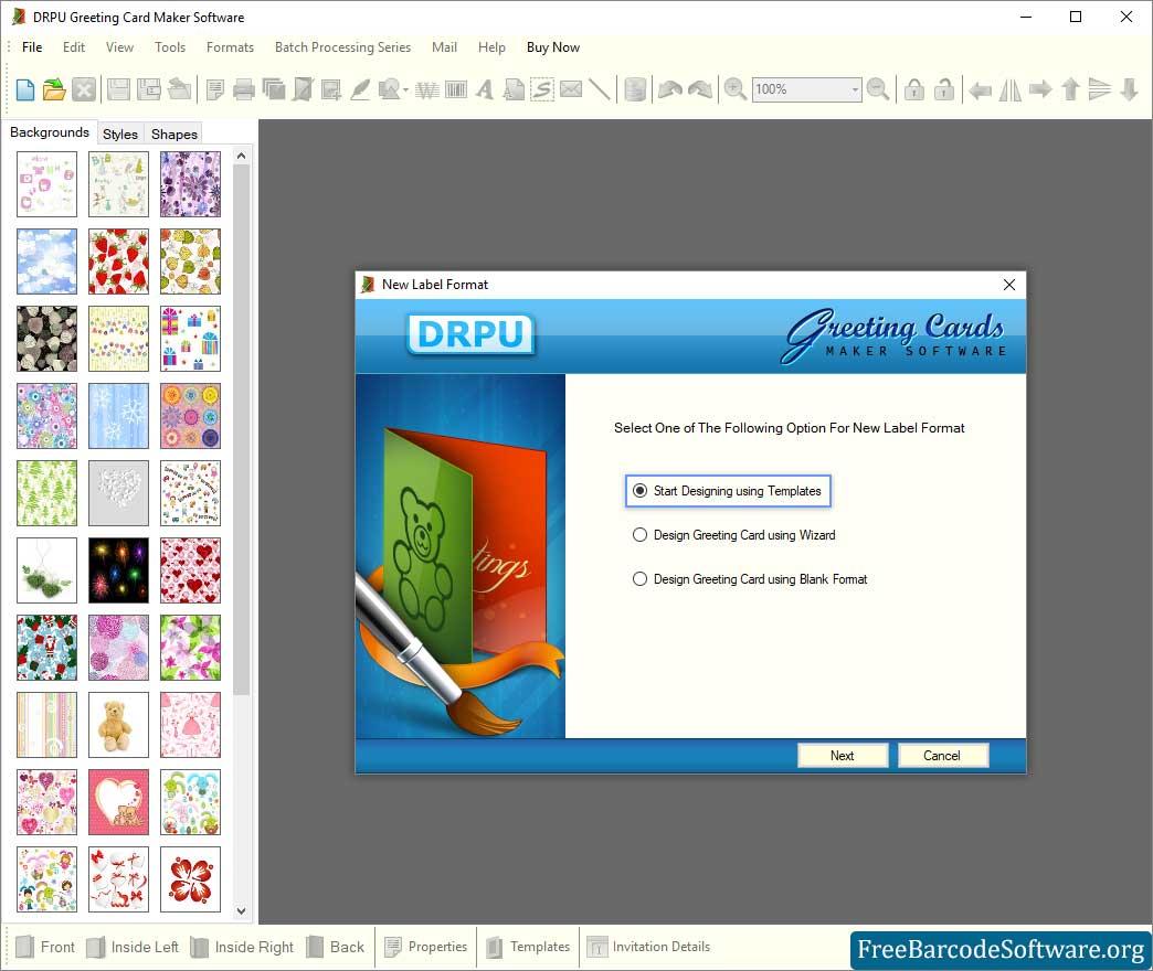 Greeting Card Maker Software Screenshots Freebarcodesoftware