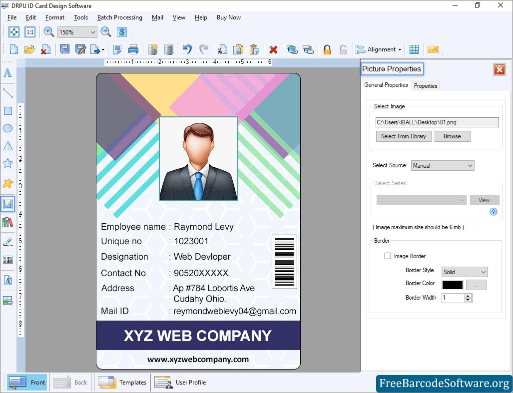 Id Card Maker Software Freebarcodesoftware